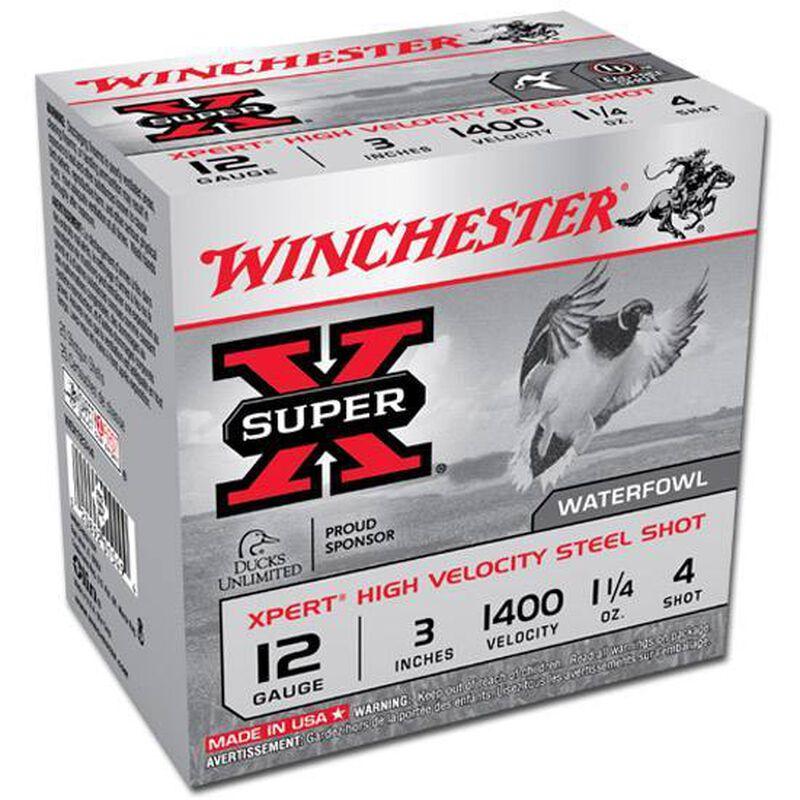 """Winchester Super X Xpert Steel 12 Gauge Ammunition 25 Rounds 3"""" #4 Steel 1 1/4 Ounce WEX123H4"""