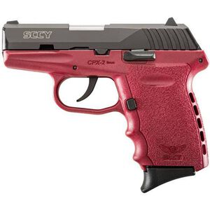 "SCCY Industries CPX-2 Semi Auto Handgun 9mm Luger 3.1"" Barrel 10 Rounds Red Polymer Frame with Black Nitride Finish CPX-2 CBCR"