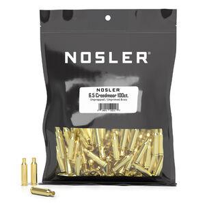 Nosler Bulk Unprepped Components 6.5 Creedmoor Unprimed Rifle Brass Cases 100 Count