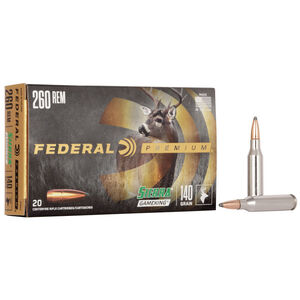 Federal Premium Sierra GameKing .260 Remington Ammunition 20 Rounds 140 Grain Sierra GameKing Boat Tail Soft Point 2700fps