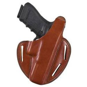 """Bianchi 7 Shadow II Holster Right Hand S&W K-Frame 2.5"""" to 3"""" Barrel Leather Tan"""