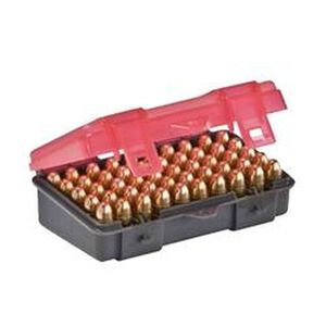 Plano Ammunition Field Box .380 Auto/9mm Holds 50 Rounds Charcoal/Rose 1224-50