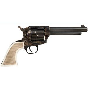 "Taylor's and Co 1873 Marshall Single Action Revolver .45 LC 5.5"" Barrel 6 Rounds Case Hardened Frame Checkered White Grips 555127"