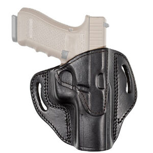 Tagua Gunleather TX1836 Cannon S&W M&P Shield and Most Single Stack Compact Pistols Belt Slide Holster Right Hand Leather Black