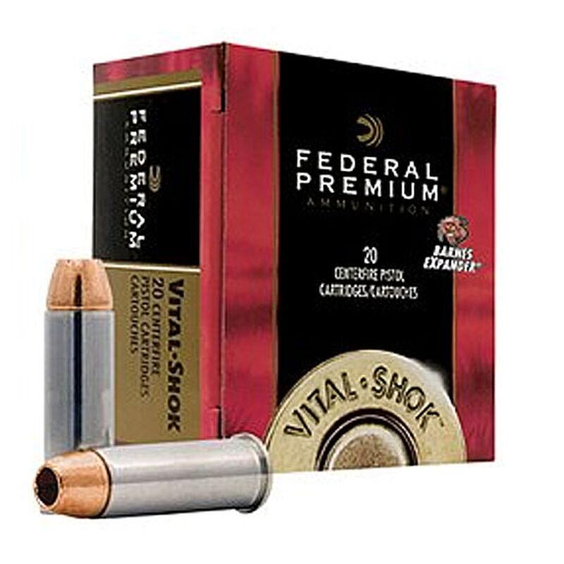 Federal Premium Vital Shok .357 Magnum Ammunition 20 Rounds Barnes Expander 140 Grains P357XB1