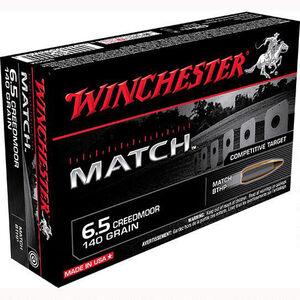 Winchester Match 6.5 Creed Ammunition 200 Rounds, BTHP, 140 Grains