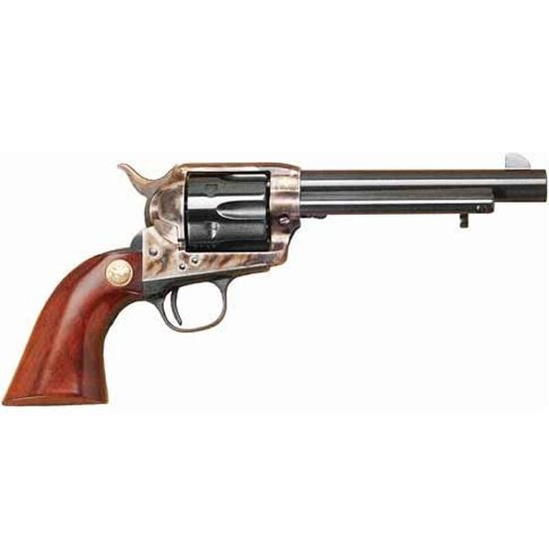 """Cimarron Model P Single Action Revolver .45 Long Colt/.45 ACP 5.5"""" Barrel 6 Rounds Dual Cylinders Case Hardened Pre War Style Frame One Piece Walnut Grips MP437"""