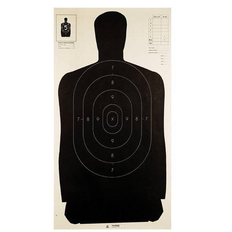 """Champion Police Silhouette Fullsize Target 24""""x45"""" Black 100 Pack 40727"""
