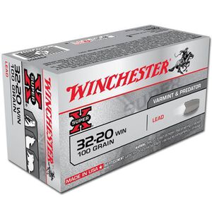 Ammo .32-20 Winchester Super-X 100 Grain LRN Bullet 1210 fps 50 Rounds X32201