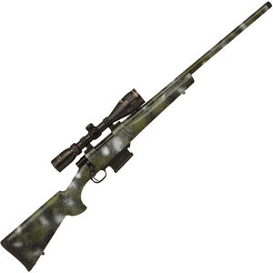 "Howa M1500 Full Dip .308 Win Bolt Action Rifle 24"" Threaded Barrel 5 Rounds with 3.5-10x44 Scope Hogue Overmolded Stock Kryptek Kratos Camo Finish"