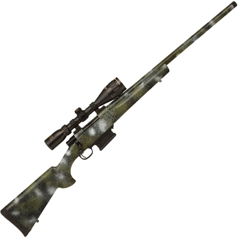 """Howa M1500 Full Dip .308 Win Bolt Action Rifle 24"""" Threaded Barrel 5 Rounds with 3.5-10x44 Scope Hogue Overmolded Stock Kryptek Kratos Camo Finish"""