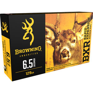 Browning BXR 6.5 Creedmoor Ammunition 20 Rounds BXR 129 Grains B192100651