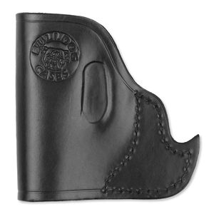 Bulldog Case Pocket Holster Micro Semi Auto Pistol Ambidextrous Leather Black MLB-IP