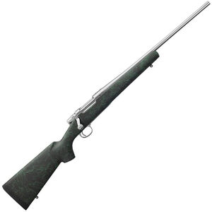 """Remington Model Seven .243 Win Bolt Action Rifle 20"""" Barrel 4 Rounds HS Precision Stock Black with Green Webbing Stainless Finish"""