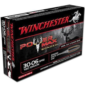 Winchester Power Max .30-06 Springfield Ammunition 20 Rounds PHP 180 Grains X30064BP