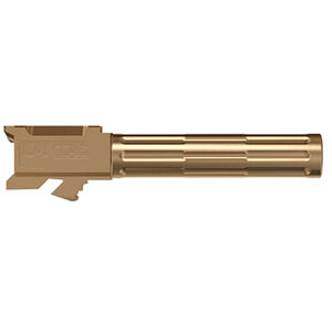 """Lantac 9INE Drop In Replacement Barrel GLOCK 19 Fluted/Non-Threaded 9mm Luger 1:10"""" Twist Stainless Steel Bronze Finish"""