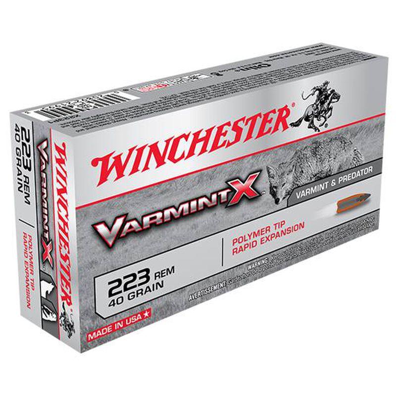 Winchester Varmint X .223 Rem Ammunition 20 Rounds 40 Grain Polymer Tip 3600 fps
