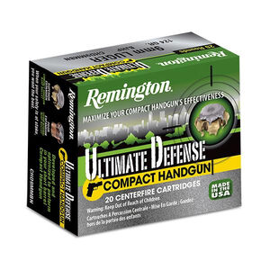 Remington 9mm Luger Ammunition 20 Rounds BJHP 124 Grains