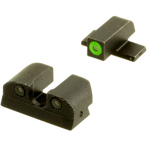 SIG Sauer X-Ray 3 Day/Night Sight Set #6 Green Ring Front and #8 Black Ring Rear Tritium Three Dot Sights U-Notch Steel Black SOX10002