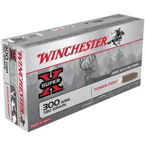 Winchester Super X .300 WSM Ammunition 200 Rounds JSP 180 Grains X300WSM