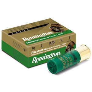 "Remington Premier Magnum Turkey 12 Gauge Ammunition 10 Rounds 3"" #5 Plated Lead 26837"