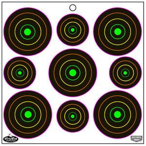 "Birchwood Casey Dirty Bird Multi Color Splattering Targets 80 2"" Targets, 100 3"" Targets"