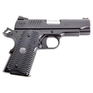 "Wilson Combat ACP Compact .45 ACP Semi Auto Pistol 4"" Barrel 7 Rounds G10 Eagle Claw Grip Carbon Steel Armor-Tuff Black Finish"