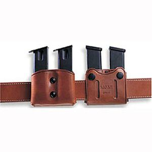 Galco DMC Double Mag Carrier for Doublestack 9mm 40S&W, Havana Brown Leather