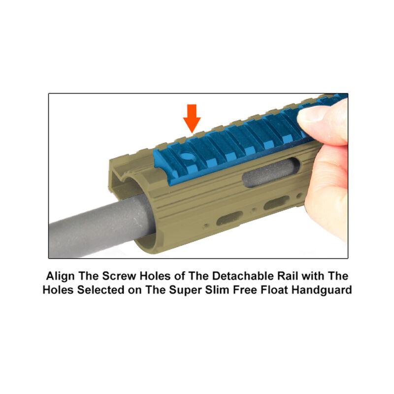 UTG PRO 15-Slot Super Slim Free Float Rail Section - FDE