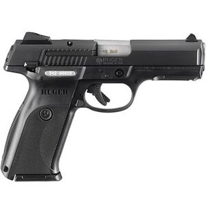"Ruger SR40 Semi Auto Handgun .40 S&W 4.14"" Barrel 15 Rounds Adjustable Sights Polymer Frame Black Finish 3471"