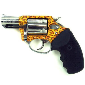 """Charter Arms Undercover Lite Revolver .38 Special +P 2"""" Barrel 5 High Polish Stainless Steel Cylinder with Leopard Camo Frame Finish Round Black Rubber Grips 53889"""