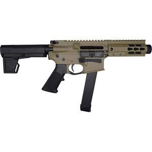 "Brigade Manufacturing BM-9 9mm Luger AR Style Semi Auto Pistol 5.5"" Barrel 33 Rounds UNI-Rail Handguard KAK M2 Pistol Brace FDE Finish"