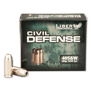 Liberty .40 S&W 60 Grain Fragmenting HP 20 Round Box