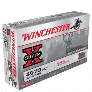 Winchester Super X .45-70 Government Ammunition 200 Rounds JHP 300 Grains X4570H