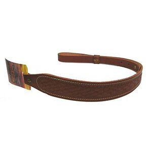 "Hunter Company Cobra Rifle Sling Basket Weave Style Fits 1"" Swivels Leather Chestnut Tan"