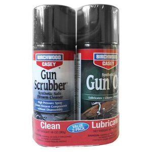 Birchwood Casey Gun Scrubber and Synthetic Gun Oil Value Pack 10 oz Aerosol Cans 33302