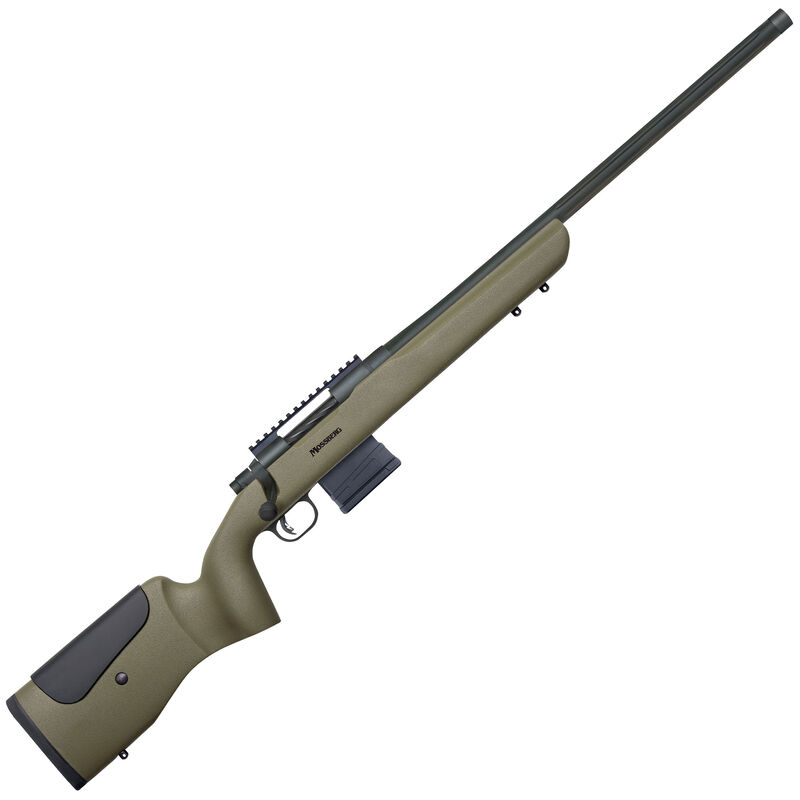 "Mossberg MVP LR Long Range Bolt Action Rifle 6.5 Creedmoor 22"" Barrel 10 Round Detachable Box Magazine Picatinny Rail Polymer Synthetic Stock OD Green"