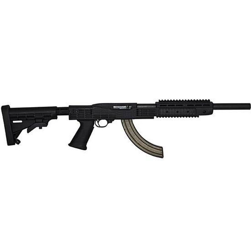 TAPCO INTRAFUSE Ruger 10/22 Tactical Trainer Stock Six Position Stock SAW Pistol Grip Forearm Barrel Cover Black 16754