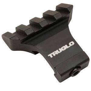 TRUGLO 45 Degree Off-Set Riser Mount Picatinny Compatible Aluminum Matte Black TG8975B