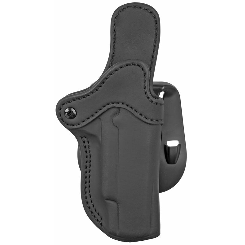 1791 Gunleather Optics Ready Open Top Multi-Fit OWB Paddle Holster for Full Size 1911 Semi Auto Models Right Hand Draw Leather Stealth Black