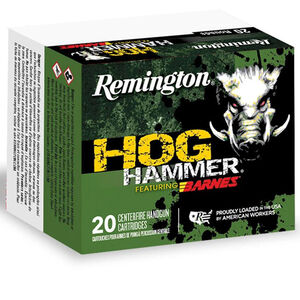 Remington Hog Hammer .454 Casull Ammunition 20 Rounds 250 Grain Barnes XPB All Copper Bullet 1700 fps