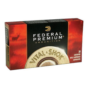 Ammo .308 Winchester Federal 165 Grain Vital-Shok Triple-Shock X SCHP Solid Copper Hollow Point  2700 fps 20 Round Box  P308H