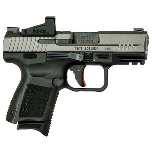 """Century Arms Canik TP9 Elite SC 9mm Luger Sub Compact Semi Auto Handgun 3.6"""" Barrel 12 Rounds Shield SMS2 Optic Polymer Frame Tungsten/Black Finish"""