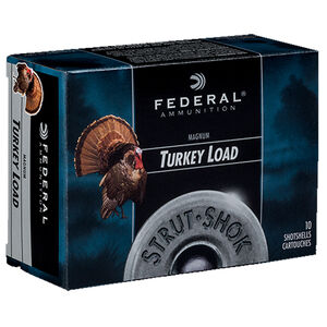 "Federal Strut-Shok 12 Gauge Ammunition 10 Rounds 3"" #5 Shot Size 1-7/8oz Lead Shot 1210fps"