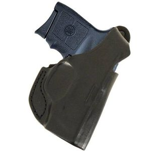 DeSantis Quick Snap Belt Holster Ruger LCP With Laser Right Hand Leather Black 027BAQ2Z0