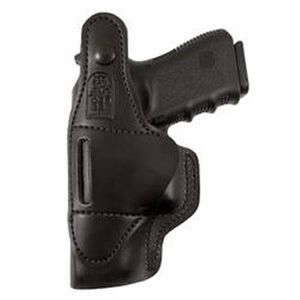 DeSantis Gunhide Dual Carry II S&W J Frame Revolvers IWB/OWB Holster Right Hand Leather Black 033BAS1Z0
