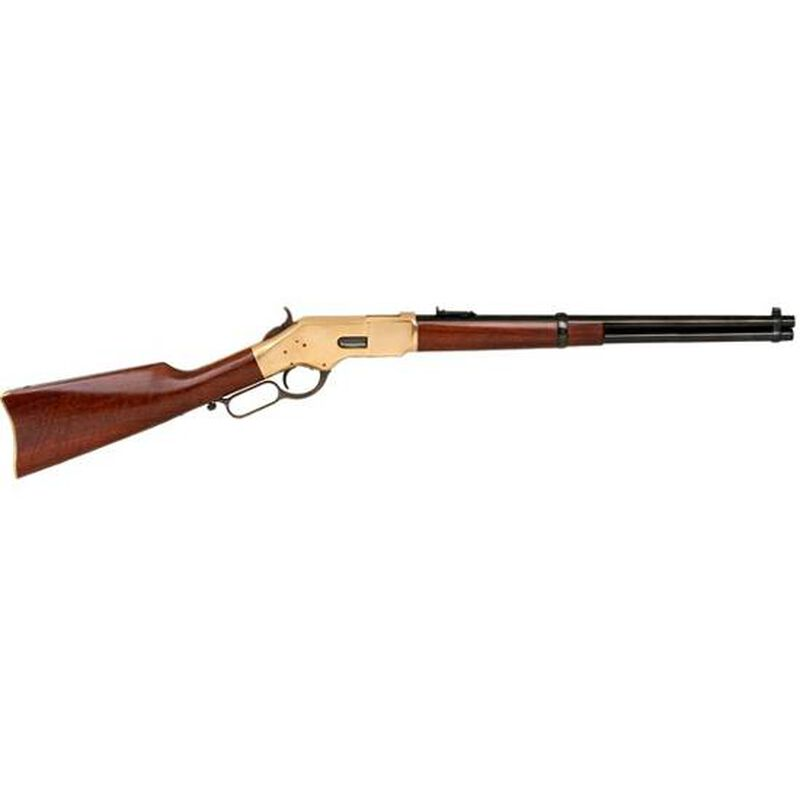 "Cimarron 1866 Yellowboy Carbine Lever Action Rifle .45 LC 19"" Barrel 10 Round Capacity Walnut Stock Blued Finish CA228AS1"