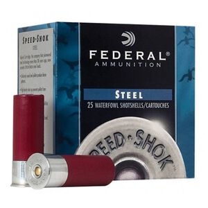 "Federal Speed-Shok 12 Ga 3"" #4 Steel 1.125oz 250 Rounds"