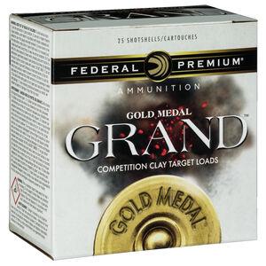 """Federal Gold Medal Grand Paper 12 Gauge Ammunition 25 Rounds 2-3/4"""" #7.5 1.125 oz Lead Shot 1145 fps"""