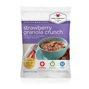 Wise Company Freeze Dried Dessert Dish Strawberry Granola Crunch 4 Servings
